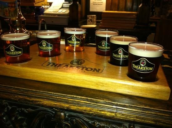 Theakston Brewery: Tray of Theakstons