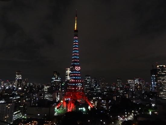 The Prince Park Tower Tokyo: 東京タワーはハートのクリスマス