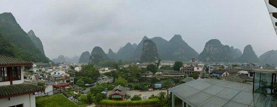 Zhenmei Holiday Hotel Guilin Yangshuo Aiyuan: Vue de la terrasse