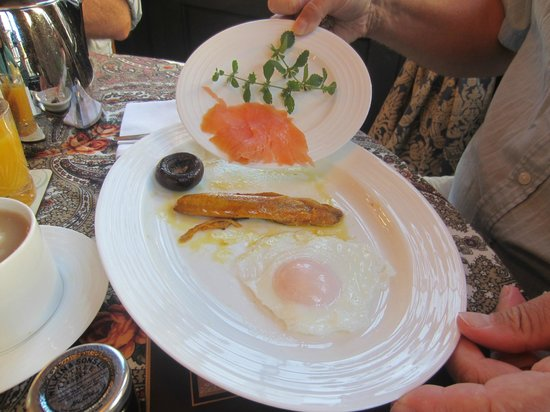 The Old House Suites: Half a kipper and half a salmon portions