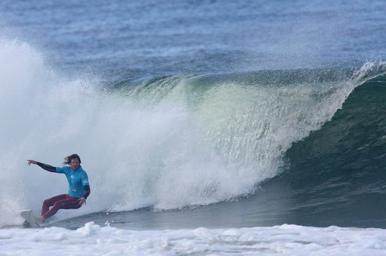 Torquay Surfing Academy: Coach / Owner Grayme 'Gally' Galbraith on a nice wave