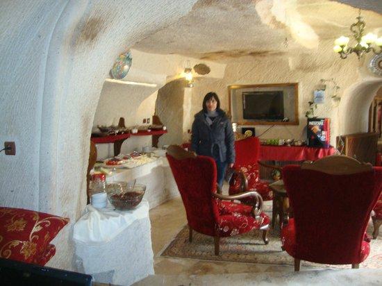 Gamirasu Cave Hotel: sala do café da manhã, uma delicia