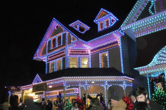 Christmas lights throughout the park - Picture of Dollywood ...