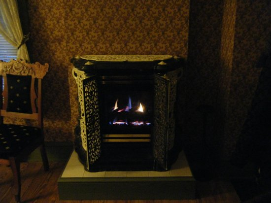 Amethyst Inn & Cottages: Loved the Fireplace!