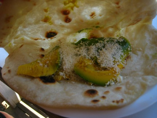 Chapi Catrachas: Avocado and Cheese (no beans)