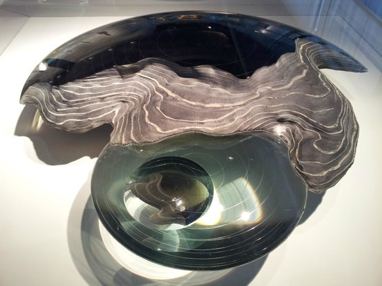 Corning Museum of Glass: 4 ft glass sculpture -- layers of glass - polished and sand blasted AMAZING