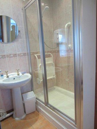 Merryfield B&B: ground floor bedroom's bath