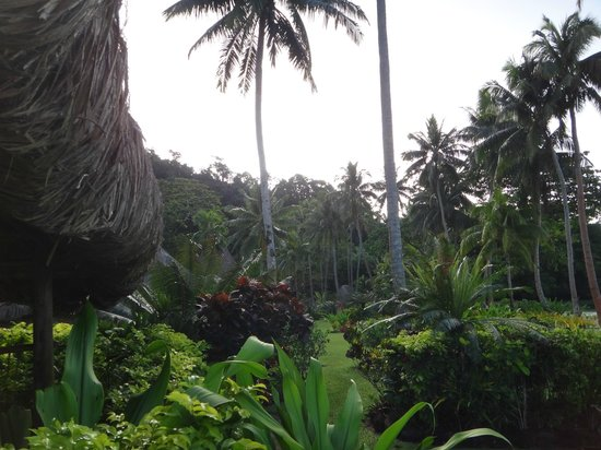 Qamea Resort And Spa Fiji: walking in the jungle through the villages
