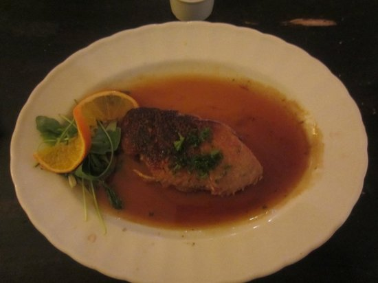 Restaurant at Merrymouth Inn: Duck breast with orange and brandy sauce