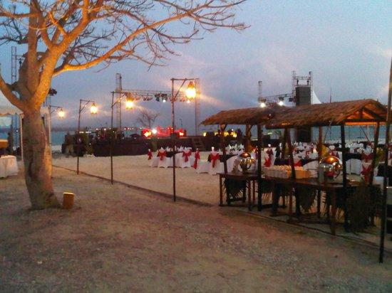 gala dinner beach view picture of grand elty krakatoa resort rh tripadvisor com
