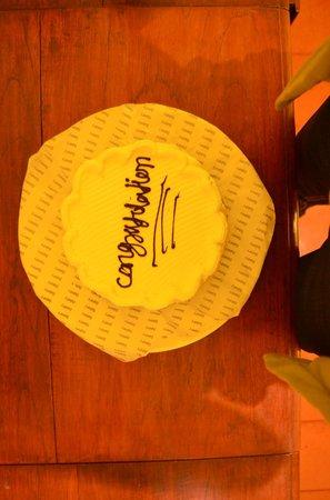 Vivanta by Taj - Kumarakom: FREE cake