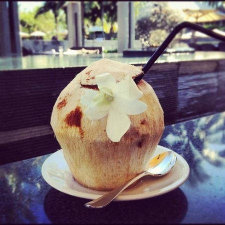 The Nam Hai Hoi An - a GHM hotel: Coconut at breakfast
