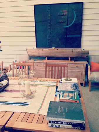 The Boatshed: Family room cool decor