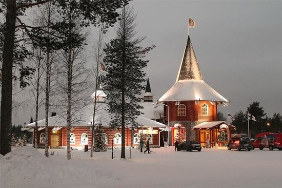 Santa Claus Village on a December Mornining