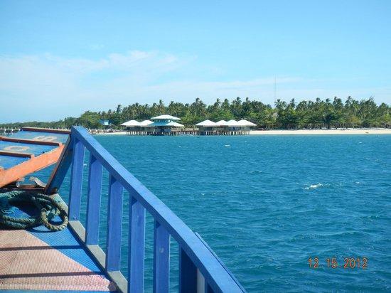 Dos Palmas Island Resort & Spa : Approaching the island