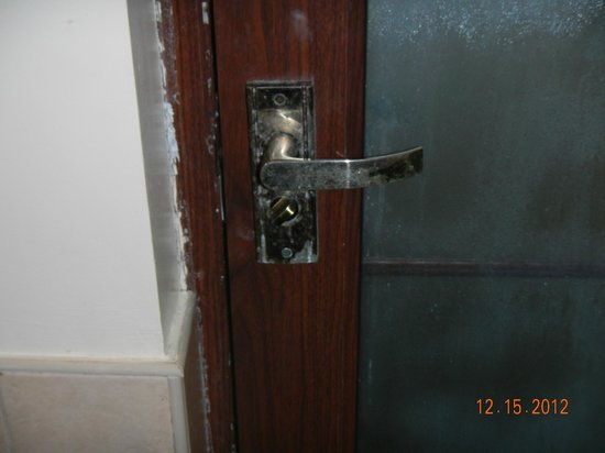 Dos Palmas Island Resort & Spa: Bathroom door handle