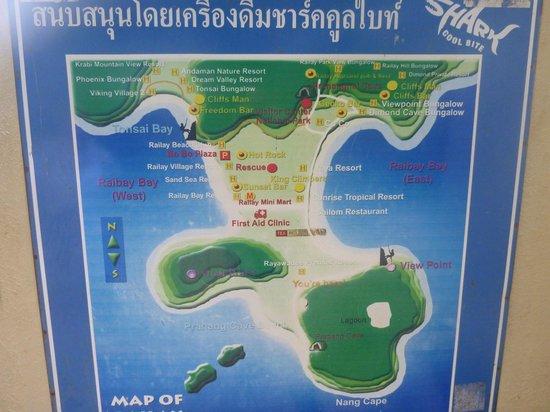 Railay Bay Resort Spa Map