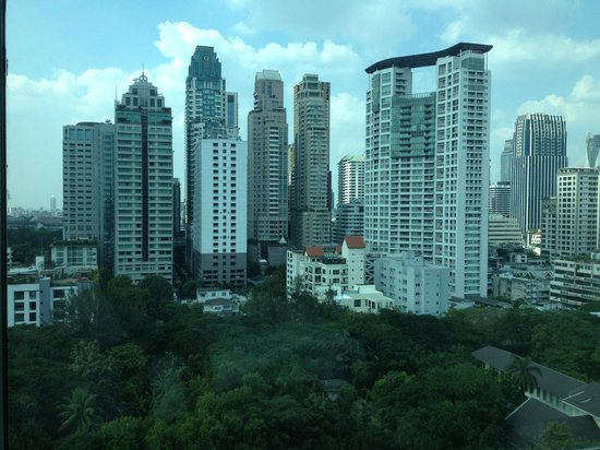 Oriental Residence Bangkok: The view from the bedroom