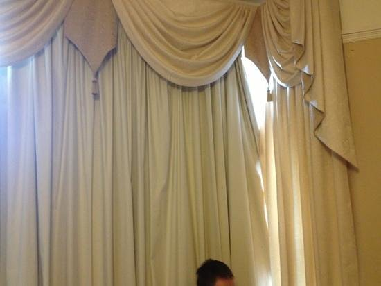 Sefton Park Hotel: How we had to sleep as curtains hanging off the rail even after partner fixed cleaner yanked dow