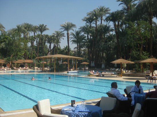 The swimming pool picture of sofitel winter palace luxor - Luxor hotel las vegas swimming pool ...
