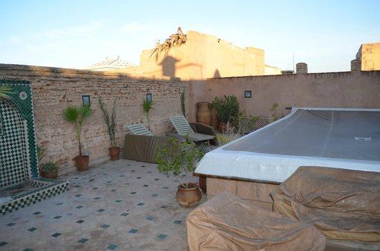 Riad Aladdin: Terraza