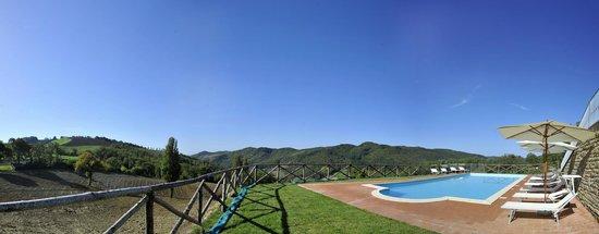 Agriturismo La Cima : panoramica piscina