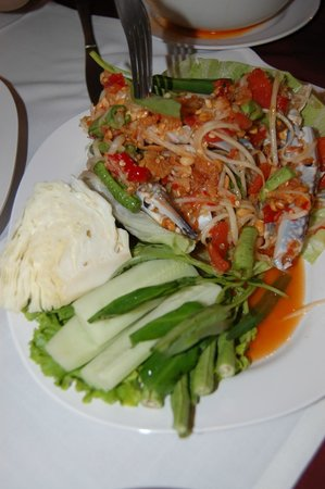The Orchid : Crab salad