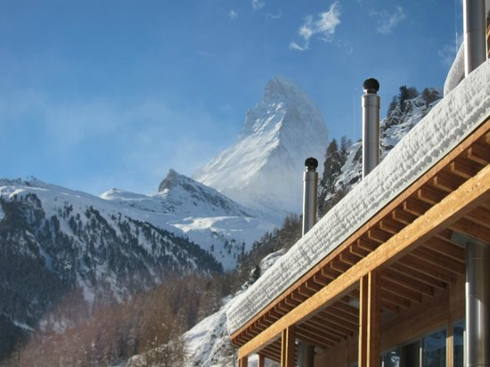 Coeur des Alpes: View from our suite of the Matterhorn!