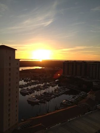 The Westin Cape Coral Resort At Marina Village: Sunset over the marina.