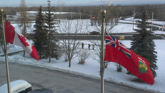 Hilton Garden Inn Ottawa Airport: view out of room 317