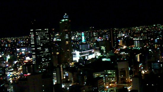 Hotel Monterey Grasmere Osaka: なんば、通天閣方向の夜景