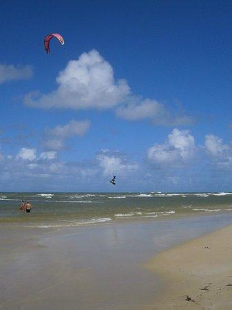 Grand Bahia Principe El Portillo: Le vent nous donnait des super-spectacles de Kite-surf !