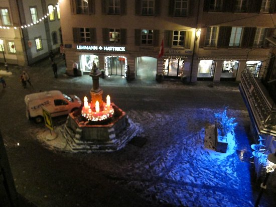 Hotel Wilden Mann: A night view from our room