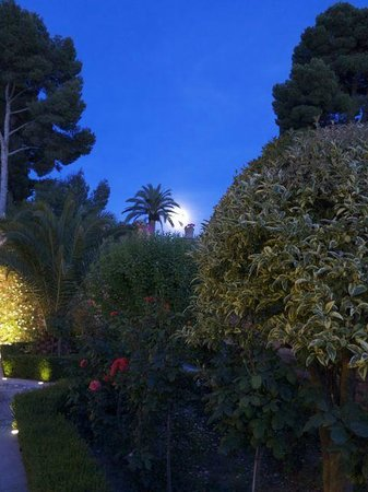 Parador de Granada: Grounds at night