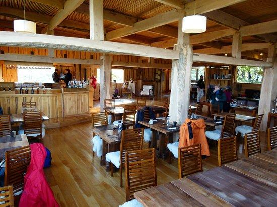 باتاجونيا كامب: Lodge dining 