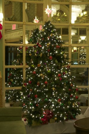 Wolcott Hotel: Beautiful Christmas Tree in the Lobby
