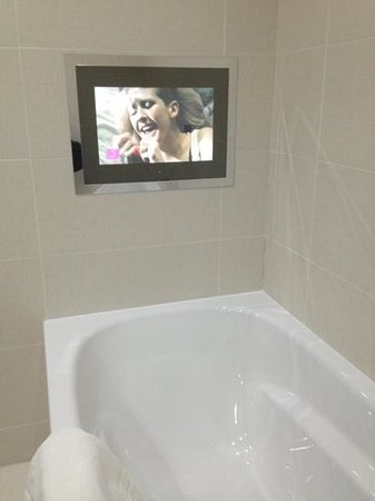 The Chester Residence: TV in the bathroom!