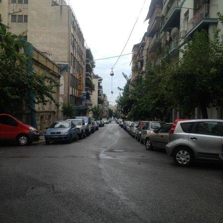 Hera Hotel: View down the street