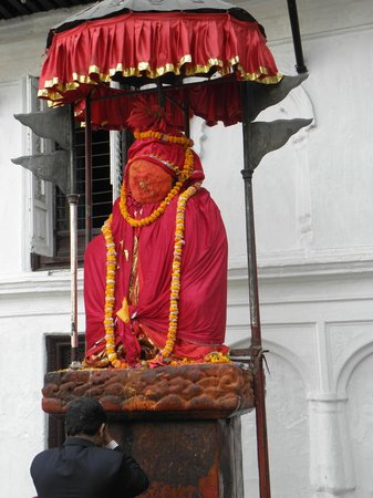 Hanuman Dhoka Square: Statue of Hanuman, Durbar Square, Kathmandu, Nepal
