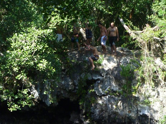 Hummer Jungle Tours: cliff jump at the cenote