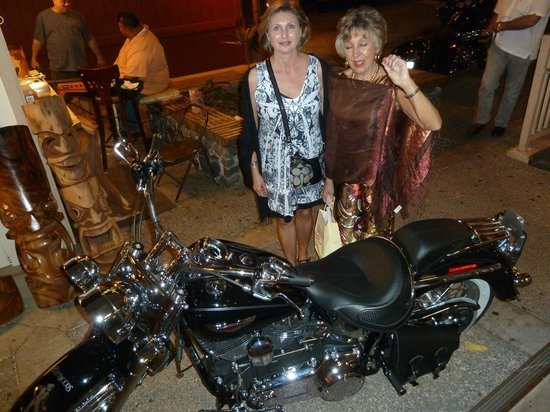 Fleetwood's on Front St.: Mick parked his Harley out front...