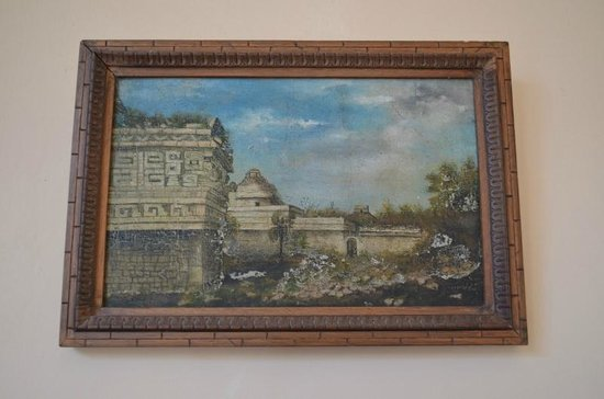 Casa Don Alfredo: One of the Mayan paintings