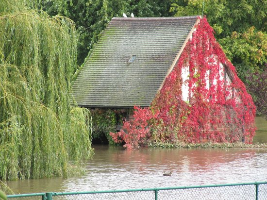 Rowntree Park: The dovecote - look for record on it of historic flood levels over years
