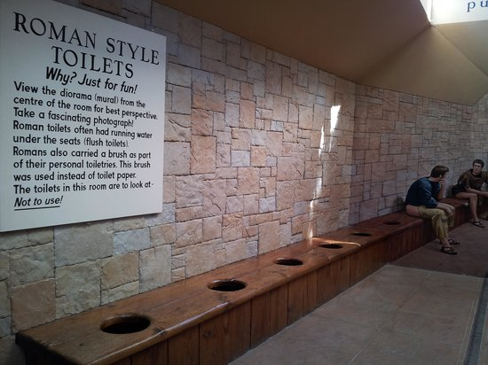 Stuart Landsborough's Puzzling World: area outside the toilet