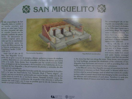 Museo Maya de Cancun: Ingreso a ruinas de San Miguelito