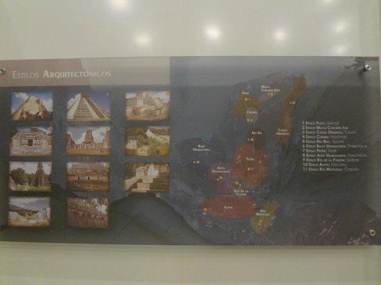 Museo Maya de Cancun: Mapa