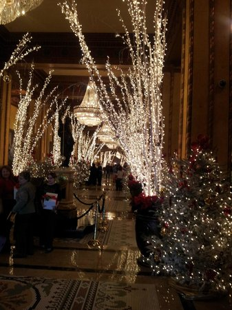 The Roosevelt New Orleans, A Waldorf Astoria Hotel: Christmas beauty in the main lobby Roosevelt Hotel