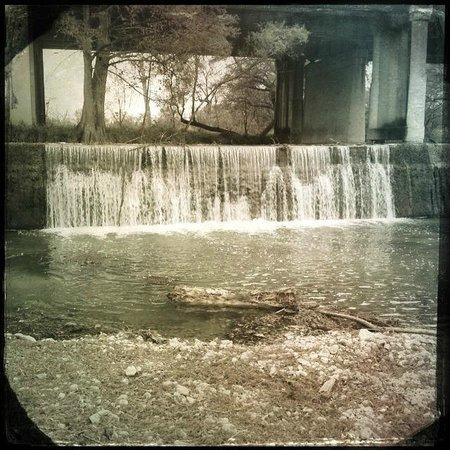 Landmark Inn State Historic Site: Waterfall at Landmark Inn