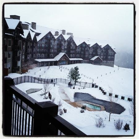 Suncadia Resort: Snowy Saturday morning 3 days before Christmas
