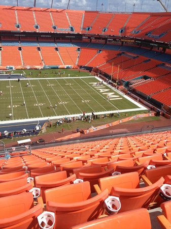 Sun Life Stadium: view from seats